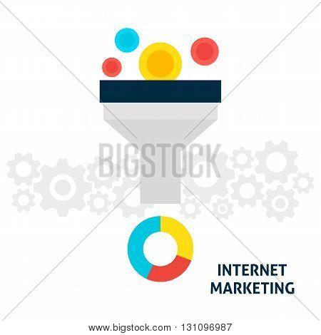 Internet Marketing Flat Concept