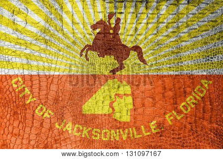 Flag Of Jacksonville, Florida, On A Luxurious, Fashionable Canva