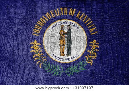 Flag Of Kentucky State, On A Luxurious, Fashionable Canvas