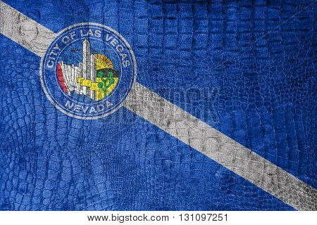 Flag Of Las Vegas, Nevada, On A Luxurious, Fashionable Canvas