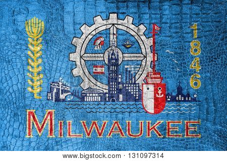 Flag Of Milwaukee, Wisconsin, On A Luxurious, Fashionable Canvas