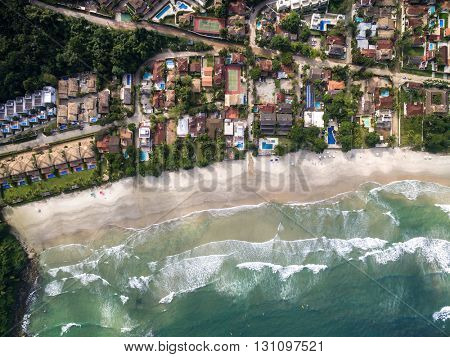 Top View of Juquehy Beach, Brazil