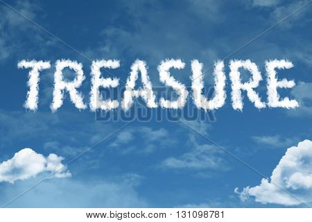 Treasure written on rural road