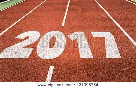 2017 written on running track