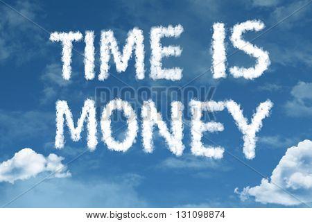Time is Money written on rural road
