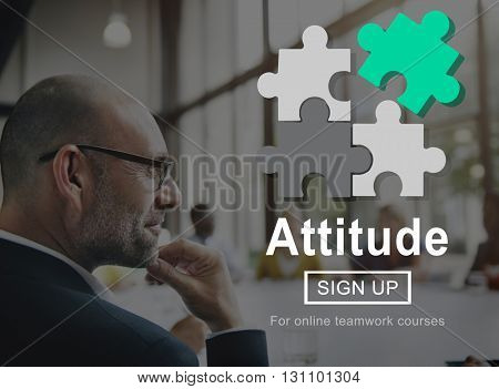 Attitude Approach Ideas Perspective Thinking Concept