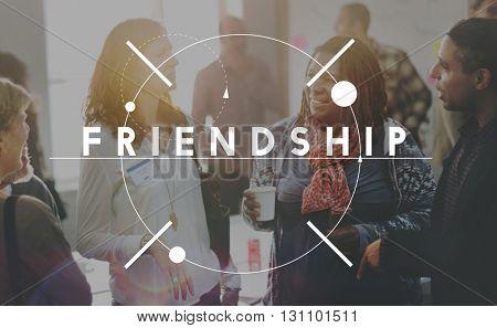 Friends Forever Community Partnership Unity Concept