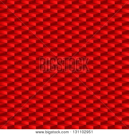 Abstract geometric background with rhombus pattern in red