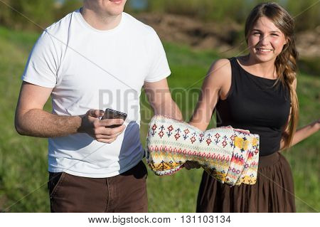 Closeup Of Couple Smartphone