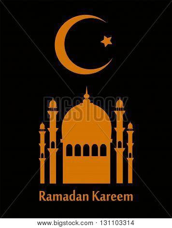 Ramadan Kareem beautiful greeting card with moon