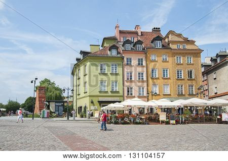 Poland, Warsaw - July 8, 2012: Architecture Palace Square In The Heart Of Warsaw..