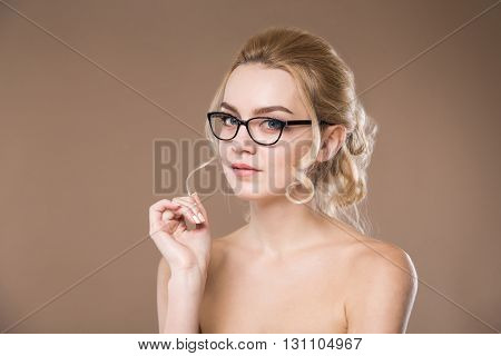 Girl With A Strand On The Finger