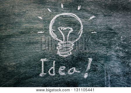 Light bulb for idea on Blackboard