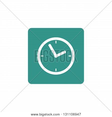 Clock Icon In Vector Format. Premium Quality Clock Symbol. Web Graphic Clock Sign On Green Backgroun