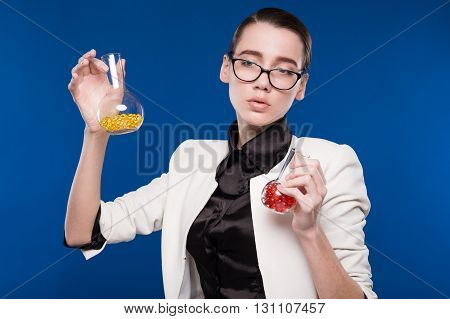 Young Girl With Beakers