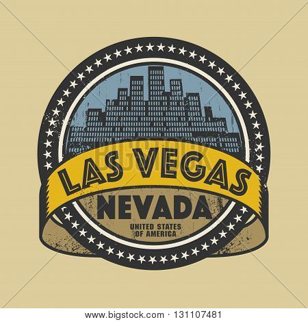 Grunge rubber stamp or label with name of Las Vegas, Nevada, vector illustration