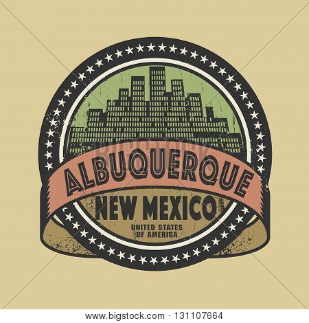 Grunge rubber stamp or label with name of Albuquerque, New Mexico, vector illustration