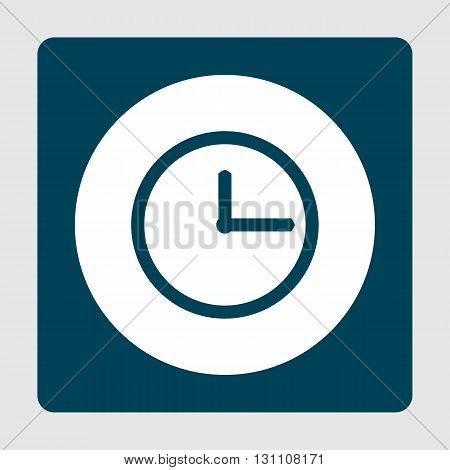 Clock Icon In Vector Format. Premium Quality Clock Symbol. Web Graphic Clock Sign On Blue Background