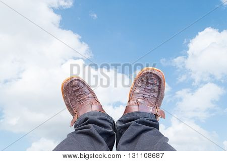 Old shoes brown black pants brown :ideal use for background: