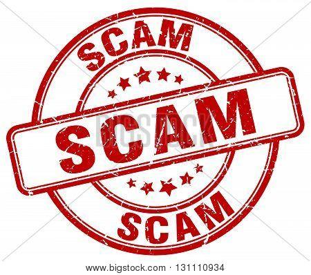 Scam Red Grunge Round Vintage Rubber Stamp.scam Stamp.scam Round Stamp.scam Grunge Stamp.scam.scam V