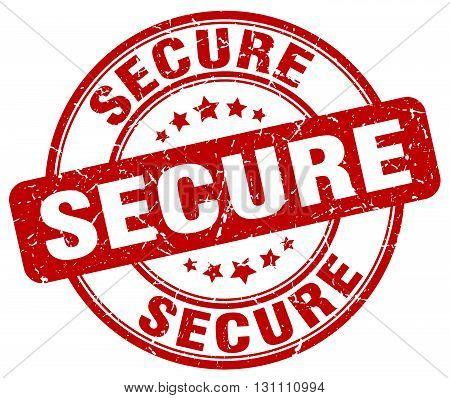 Secure Red Grunge Round Vintage Rubber Stamp.secure Stamp.secure Round Stamp.secure Grunge Stamp.sec