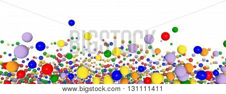 Computer generated 3D illustration with toy balloons isolated on white background