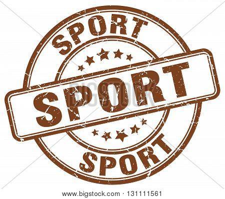 Sport Brown Grunge Round Vintage Rubber Stamp.sport Stamp.sport Round Stamp.sport Grunge Stamp.sport
