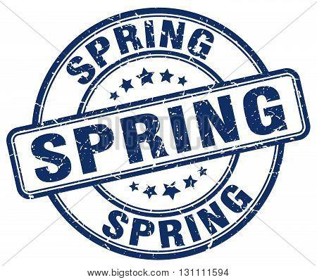 Spring Blue Grunge Round Vintage Rubber Stamp.spring Stamp.spring Round Stamp.spring Grunge Stamp.sp