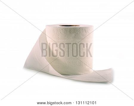 tissue paper close up isolated on white background