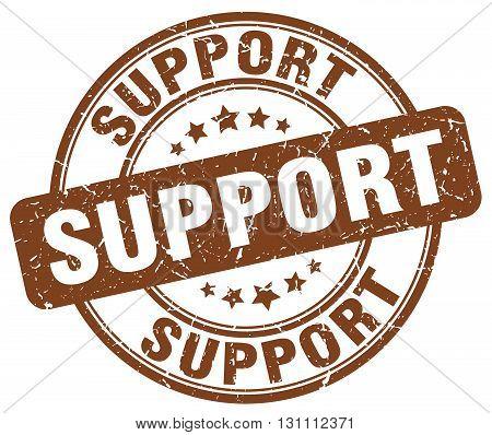 Support Brown Grunge Round Vintage Rubber Stamp.support Stamp.support Round Stamp.support Grunge Sta