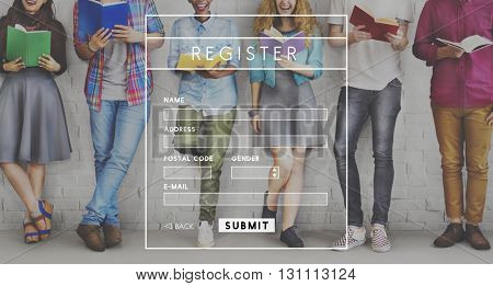 Register Membership Personal Data Website Concept