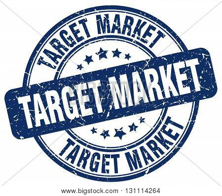 Target Market Blue Grunge Round Vintage Rubber Stamp.target Market Stamp.target Market Round Stamp.t