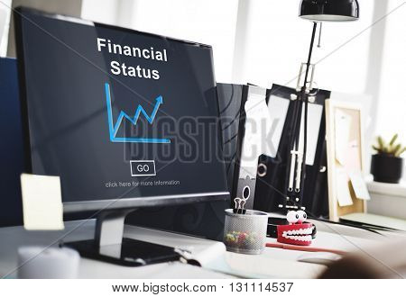 Financial Status Money Cash Growth Analysis Concept