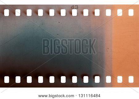 Blank purple vibrant noisy film strip texture background