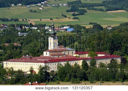 Convent Schlaegl in Upper Austria in the summer - austria