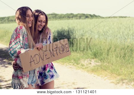 female twins looking for adventure vacations. individual trips