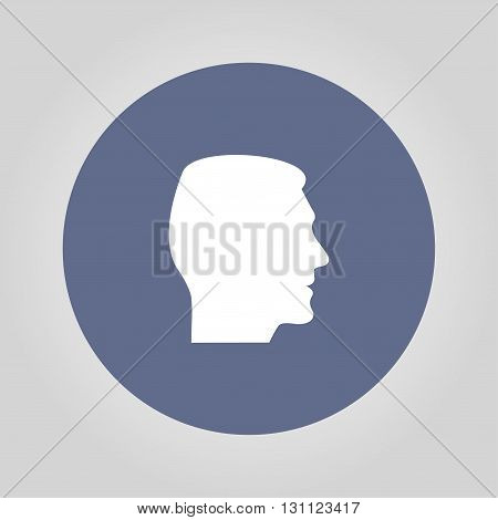 head icon. Flat design vector style. EPS