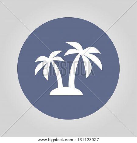 Palm Icon. Vector Eps 10
