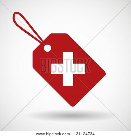 Isolated Shopping Label Icon With   The Swiss Flag