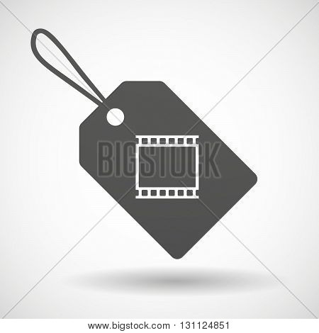 Isolated Shopping Label Icon With   A Photographic 35Mm Film Strip