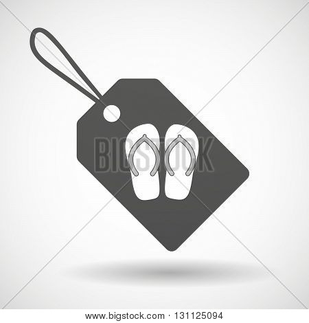 Isolated Shopping Label Icon With   A Pair Of Flops