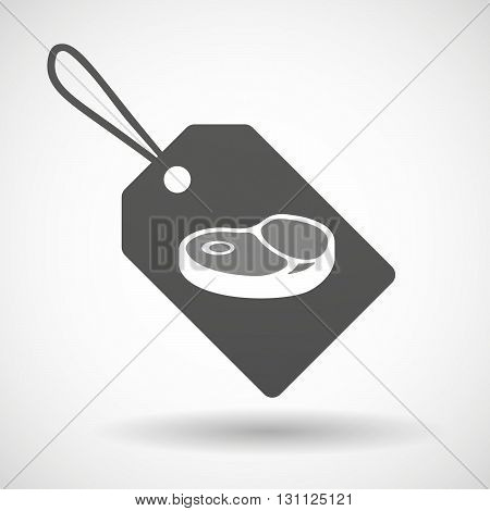 Isolated Shopping Label Icon With  A Steak Icon