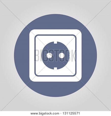 power socket icon. Flat design style EPS