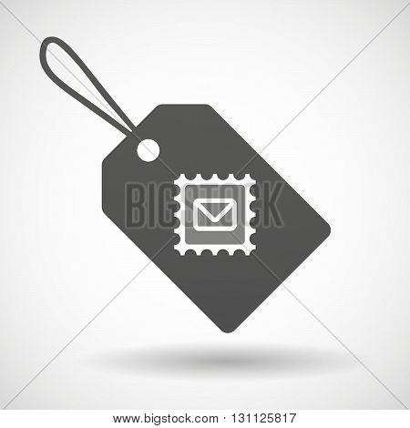 Isolated Shopping Label Icon With  A Mail Stamp Sign
