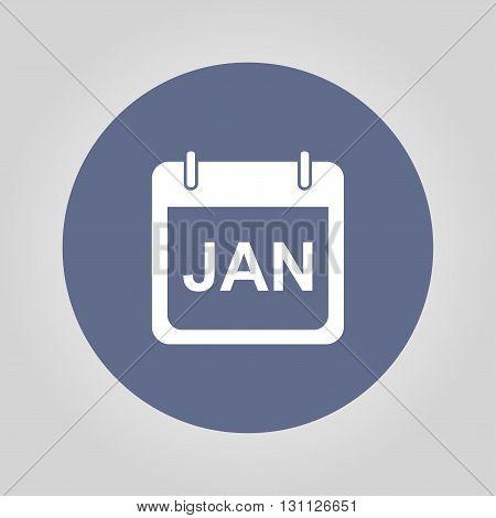 Simple Calendar. Modern design flat style icon.