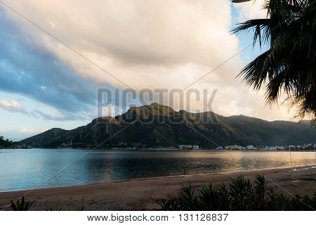 A beach scenery at Marmaris in Turkey