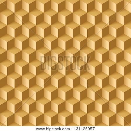 Abstract geometric background with cubes in light brown shades