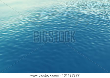 Surface sea from a height with waves. 3d illustration