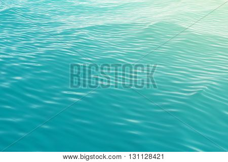 Surface of the sea, the ocean view from the top with waves. 3d illustration