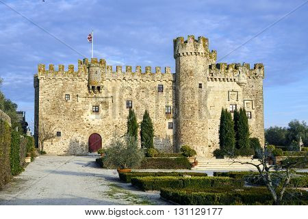 Aldea del Cano Castle Arguijuela province of Caceres Extremadura Spain